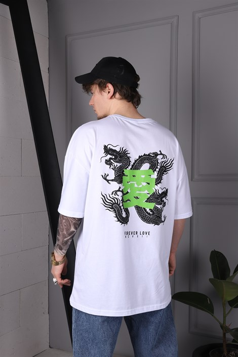 Dragon Beyaz Tshirt, , JR.CRIME
